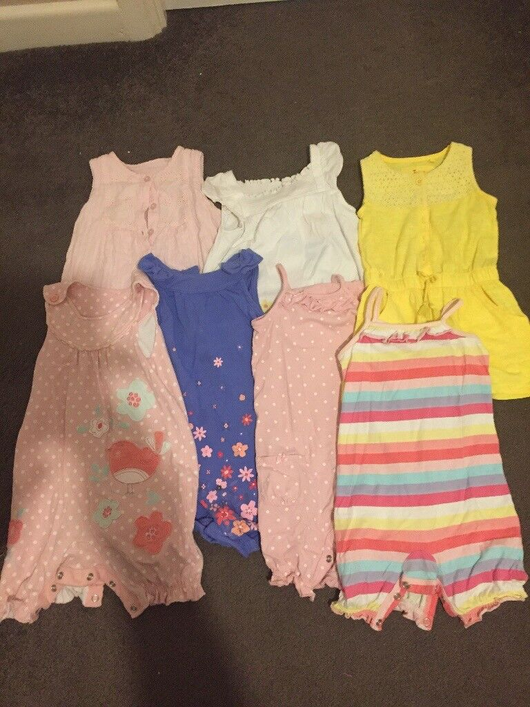 0becaa12f15c Baby girls rompers 9-12 months