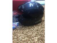Motorbike helmet large black full face
