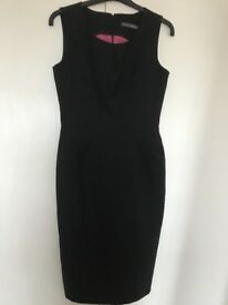 Black dress,zip at the back, size 8suitable to wear for office work