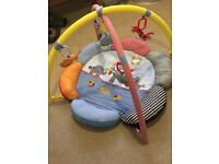 Baby play mat with attachments