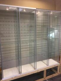 4x glass cabinets ikea