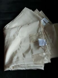 Cream Taffeta Curtains