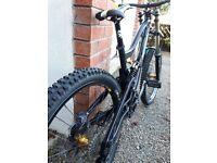 Nukeproof Scalp 2012 Pro Black, Fantastic downhill bike, owned by son but now abroad, Full spec.