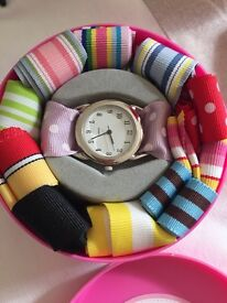 Girls gift watch with various straps gift boxed