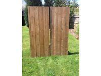 Reclaimed Braced Pine Doors (x2)