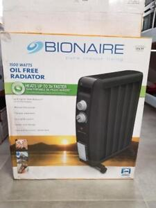 BIONAIRE 1500W OIL FREE HEATER RADIATOR