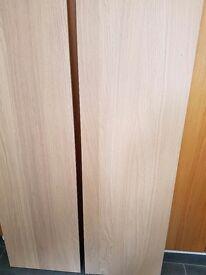 4 x Ikea Nexus oak veneer doors