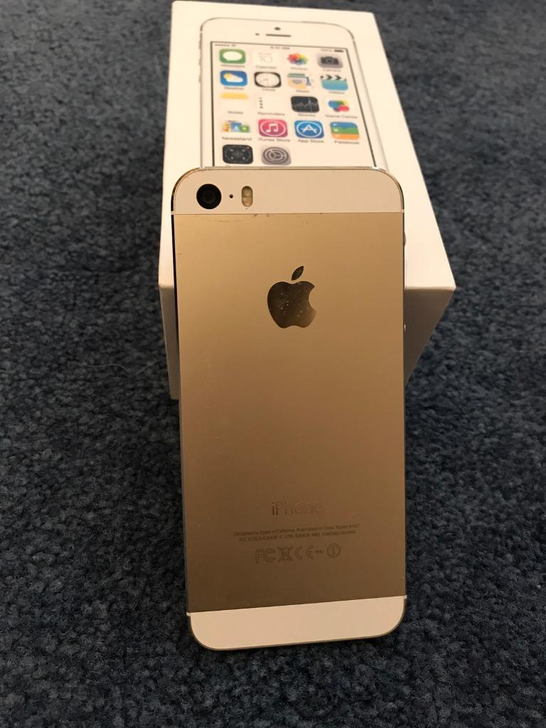 iPhone 5s Gold 16GB unlocked perfect conditionin East Bergholt, EssexGumtree - For sale is my iPhone 5S (Gold), 16GB Memory, UNLOCKED TO ALL NETWORKS, in Perfect Working Condition. All the features and functions work brilliantly as they should. Please note that this smartphone is equipped with state of the art Fingerprint...