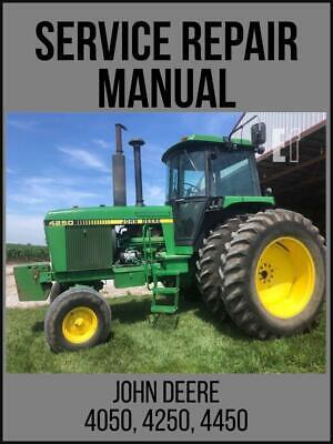 John Deere 4050 4250 4450 Tractor Service Technical Manual Tm1353 On Usb Drive
