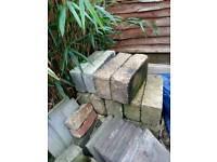 Concrete and breeze blocks
