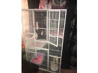 parrot cage/kitten/cat cage/small animal/chinchilla