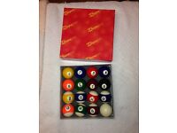 Full set of nearly new pool balls