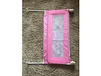 Tomy girls pink bed guard rail adjustable