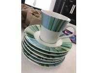 6 cups with saucers - new