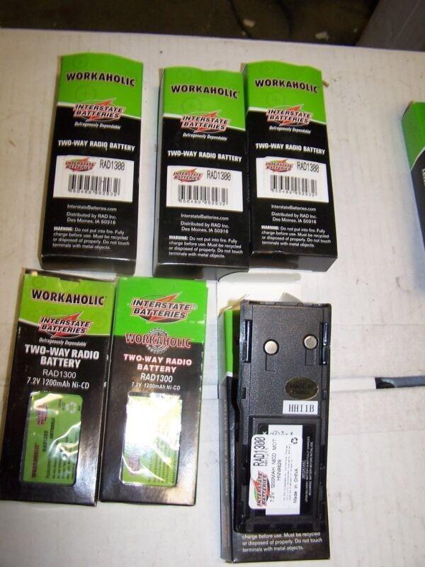 Lot of 6 NOS Interstate Workaholic Batteries RAD1300 = HNN9628 Motorola SALE