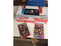 Brand New Nintendo Switch and 2 Mario games - All sealed