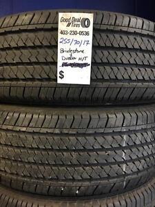 255/70/17 Bridgestone Dueler Ht $