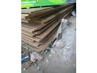 Laminated floor and underlayer