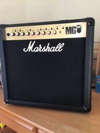 Marshall MG50FX amplifier& cover