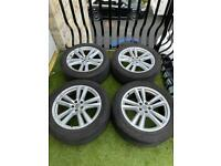 """GENUINE AUDI S LINE Q7 20"""" ALLOY WHEELS AND TYRES 4M 2015+ SQ7"""