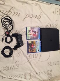 SONY PS4 PLAYSTATION SLIMLINE AS PICTURED