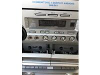 karaoke 3disc machine with double tape player