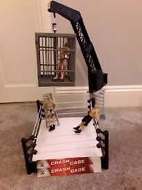 WWE Crash Cage Ring, Figures and Ladders