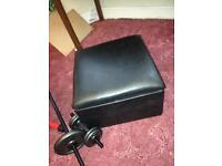 Black pleather foot stool with storage FREE