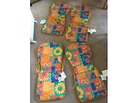 Floral Colour Garden Patio Chairs Cushions