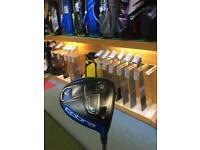 USED - Cobra King F6 10.5 degree driver, 60q4 redtie Regular Flex Shaft, New Decade MCC Grip wht/blk