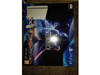 PLAYSTATION 4, 500GB, WHITE, BRAND NEW AND SEALED BOX WITH GAME