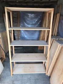 Wooden Fully Adjustable Shelving/Racking Complete with 6 Shelves