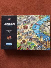 GIBSONS 1000 PIECE JIGSAW PUZZLE-LONDON LANDMARKS