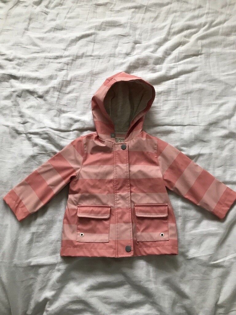 9b768e8c1 Zara pink raincoat 9-12month