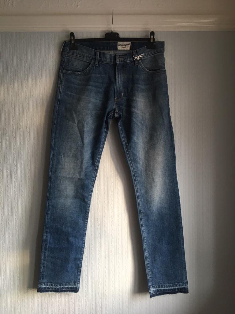 Men's wrangler jeans stone washed