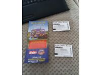 ONE PAIR ALTON TOWERS TICKETS - 13/6/2018