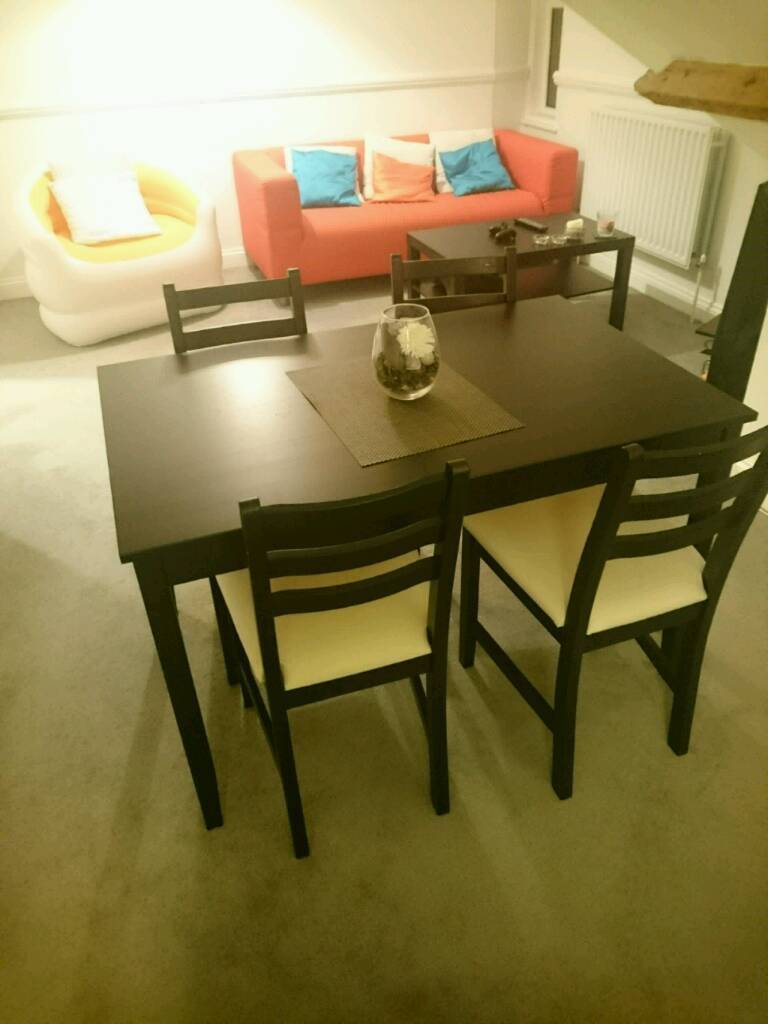 Dinner table + 4 chairs - needs to go asap
