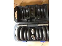ONE BODY ACTIVE EQUIPMENT 20KG CAST IRON DUMBBELL WEIGHT SET