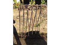 Garden Metal Trellis Gate Wrought Iron