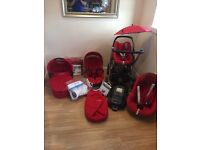 Maxi Cosi Travel Package - includes Elea seat, Carrycot, Pebble and Pearl car seats and Isofix Base.