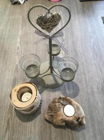 Rustic/ wooden candle holders for sale