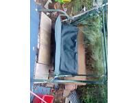 Sturdy metal swinging seat Blue New canopy