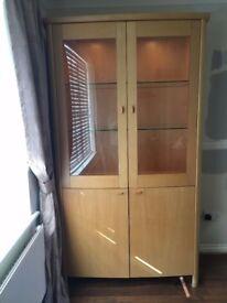 Dansk Display Cabinet - Beech Wood