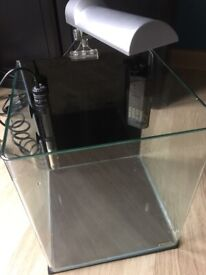 Dennerle Nano Cube 30 Litre Glass Fish Tank with Pump, Light and Heater