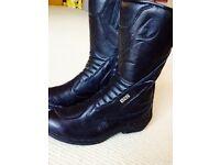 Female genuine leather Gore-Tex motorbike boots