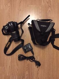 Nikon D5000 with charger and case