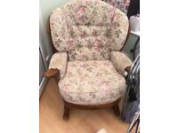 Upholstery rocking chair