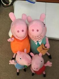 Peppa pig and family soft toys