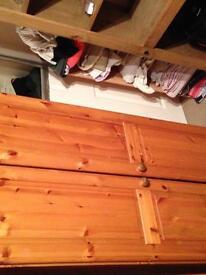 Double pine wardrobe £30