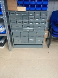 Antique silver storage cabinet